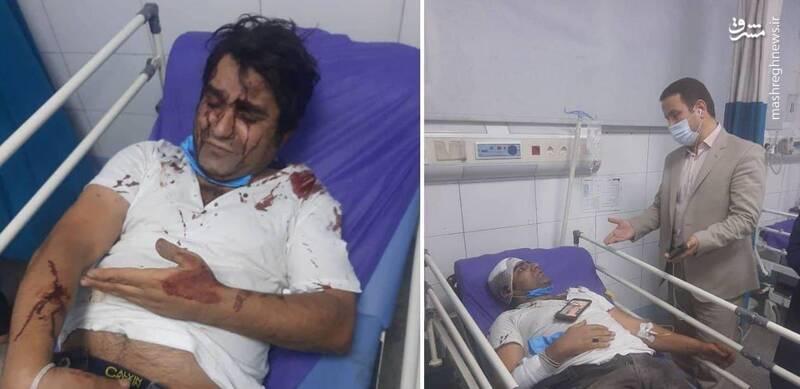حمله خونین به ۲ بازیگر سریال دودکش +عکس