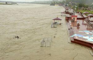 عکس/ جاری شدن سیل در هند