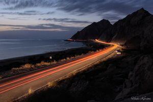 تصویری زیبا از شبهای ساحل خلیج فارس