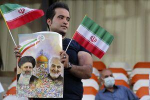 جشن پیروزی حامیان رئیسی در کرج