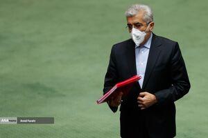 عکس/ وزیر نیرو در صحن علنی مجلس