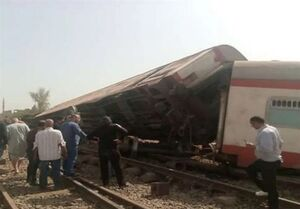 ۴۰ مجروح در برخورد قطار با اتوبوس مسافربری در مصر