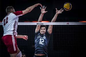 امتیازآورترین بازیکن ایران در دیدار با لهستان