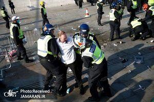 جدیدترین درگیری پلیس و مردم لندن+ فیلم