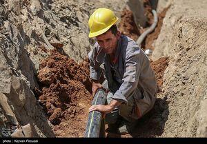 عکس/ گازرسانی به روستاهای صعب العبور