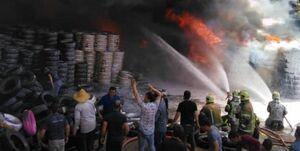وقوع حریق گسترده انبار کالا در محدوده بازار تهران
