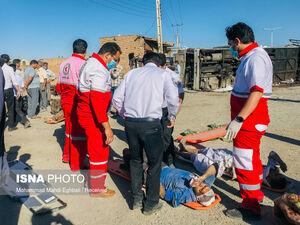 عکس/ تصادف مرگبار اتوبوس و تریلی در یزد