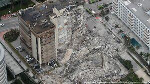 فیلم/ لحظه ریزش ساختمان ۱۲ طبقه میامی