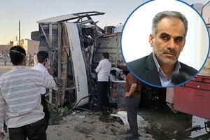 فوت 7 نفر در تصادف اتوبوس سربازمعلمان/ جزئیات وضعیت مصدومان - کراپشده