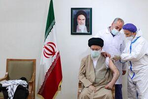 واکنش یک شاعر به دریافت واکسن ایرانی توسط رهبر/ ایمن شده با مهر ولایت، ایران - کراپشده