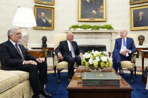 عکس/ اشرف غنی و عبدالله عبدالله در کاخ سفید