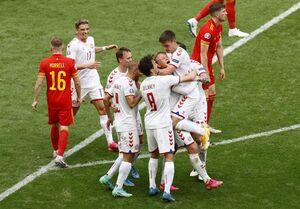 پیروزی یک نیمهای دانمارک مقابل ولز