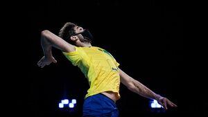 علت ماسک زدن والیبالیست برزیل در جریان بازی