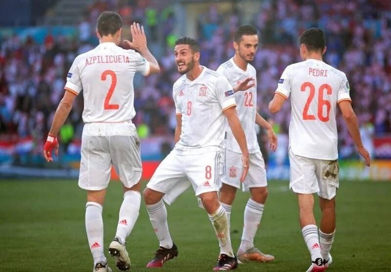 یورو 2020 , تیم ملی فوتبال اسپانیا , تیم ملی فوتبال کرواسی ,