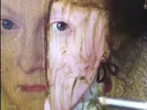 ببینید نقاشی قرن ۱۷ رو چجوری تمیز میکنن+ فیلم