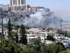 آتش سوزی مهیب «حیفا» در فلسطین اشغالی را فرا گرفت
