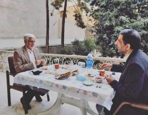 صبحانه ضرغامی با عارف+ عکس