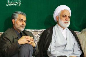 حجت الاسلام اژهای در کنار حاج قاسم سلیمانی