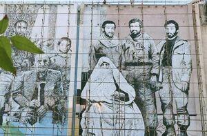 حذف عکس مادر شهیدان افراسیابی از دیوارنگاره تهران+ عکس