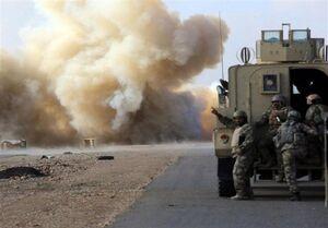کاروان لجستیک ارتش آمریکا در صلاحالدین عراق هدف قرار گرفت