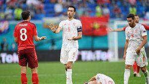 حذف قهرمانانه غول کش یورو در ضربات پنالتی/ صعود اسپانیا به نیمه نهایی