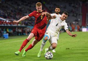 حذف بلژیک مقابل ایتالیا به روایت تصویر