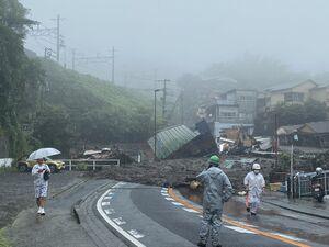 کشته و مفقودشدن ۱۱۶ تن بر اثر رانش زمین در ژاپن