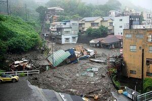 رانش زمین در ژاپن با ۲ کشته و حداقل ۲۰ مفقود