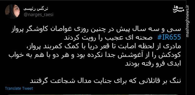 صحنه ای عجیب در ماجرای انهدام ایرباس ایران