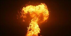 انفجار در میدان گازی جمهوری آذربایجان در دریای خزر +فیلم