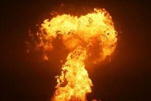 فیلم/ شعلههای آتش در دریای خزر