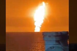 آخرین وضعیت سکوهای نفتی نزدیک به محل آتش در باکو