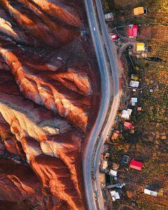 عکس/ نمایی زیبا از کوههای رنگی سمنان