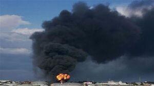 فیلم/ انفجار شدید در حوالی فرودگاه تایلند
