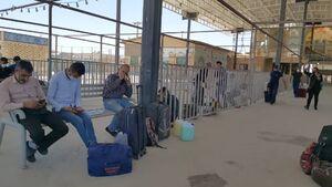 تردد از مرز مهران با وجود ممنوعیت خروج از مرزهای زمینی+عکس و فیلم