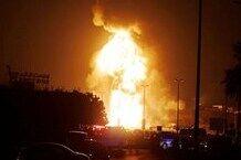 آتشسوزی در فرودگاه بغداد +فیلم