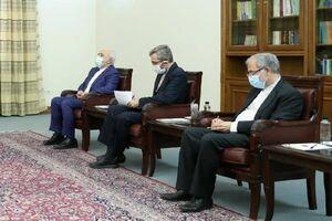 عکس/حضور علی باقری و ظریف در دیدار رئیسی و وزیرخارجه هند