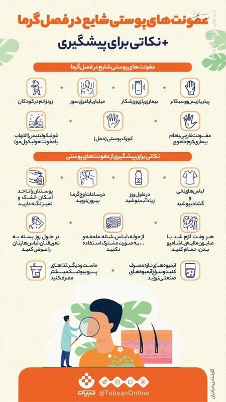 نحوه پیشگیری از عفونتهای پوستی در فصل گرما