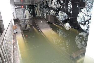 این استخر رو باز نیست! ورودی متروی نیویورکه!+ عکس