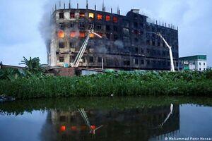 جان باختن دستکم ۴۹ نفر بر اثر آتش سوزی در بنگلادش