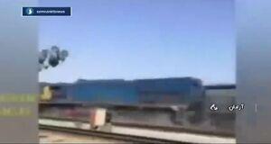 فیلم/ خروج قطار باری سمنان از ریل