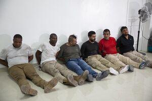 عکس/ دستگیری مظنونین مشارکت در قتل رئیس جمهور هائیتی