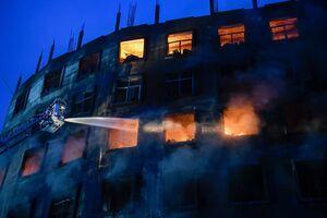 عکس/ آتش سوزی مرگبار در بنگلادش