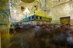 عکس/ مراسم عزاداری شهادت امام جواد(ع) در کاظمین