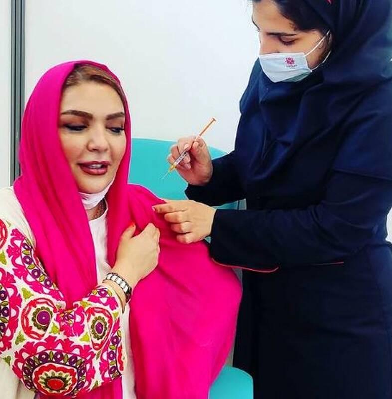 تهدید بازیگر زن پس از تزریق واکسن برکت+عکس