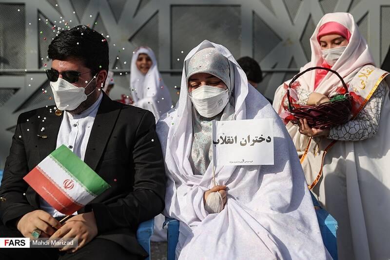 جشن عروسی دختران انقلاب در میدان امام حسین(ع)