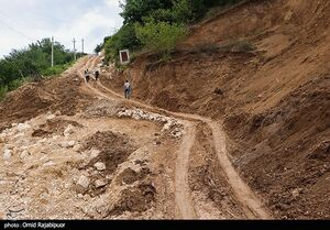 عکس/ رانش زمین در روستای طیولا گیلان