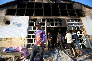 آتش سوزی در بیمارستان مخصوص کروناییها در عراق