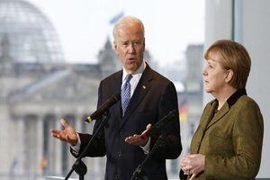 دیدار رهبران آلمان و آمریکا در کاخ سفید
