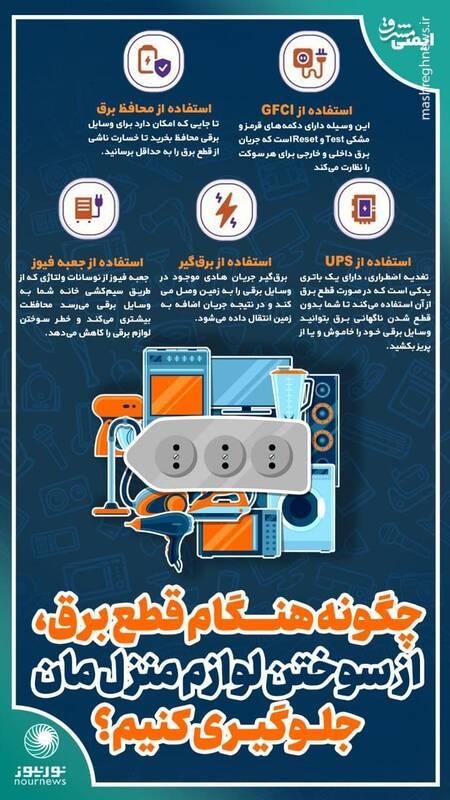 چگونه هنگام قطع برق، از سوختن لوازم برقی منزلمان جلوگیری کنیم؟